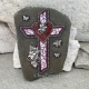 Mosaic Cross with heart