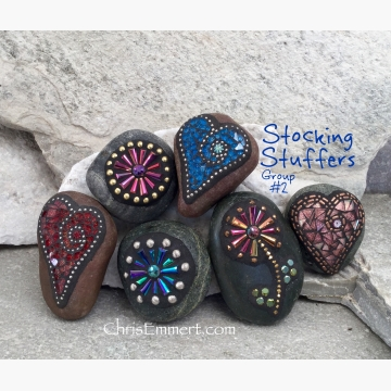 office gift paperweights mosaic garden stone