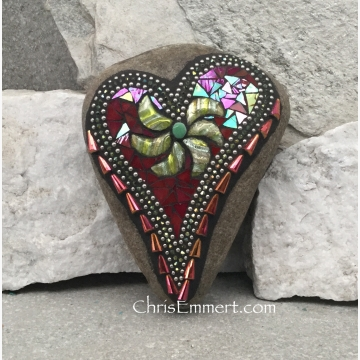 Mosaic red heart