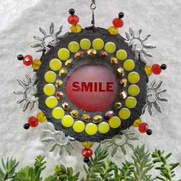 Smile Sun, Garden Wind Spinner, Home and Garden Decor, Gardening Gift,
