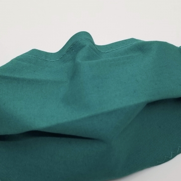 Cotton Face Mask, Jade, Latex- Free, Filter Pocket, Nose Wire, Washable,