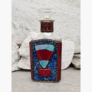 "Mosaic Liquor Bottle ""Cutty"" Up-cycled Decanter"