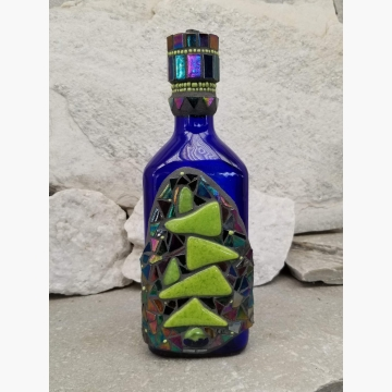 "Mosaic Liquor Bottle ""In Balance 2"" Up-cycled Decanter"