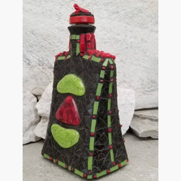 "Mosaic Liquor Bottle ""In Balance"" Up-cycled Decanter"