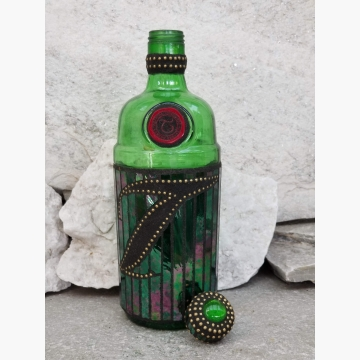 "Mosaic Liquor Bottle ""Tanquery"" Up-cycled Decanter"