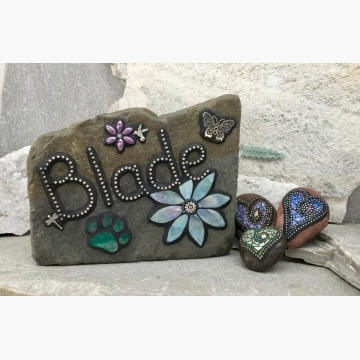 Custom Pet Memorial Shrine, Garden Stones - Mosaic Custom Order