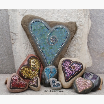 Custom order of Heart Stones Summer 2013