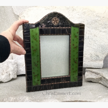Vintage Look Mixed Media Mosaic Picture Frame, Home Decor